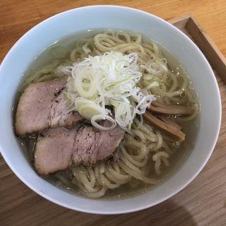 塩そば(自家製麺と定食 弦乃月)