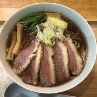 プレミアム鴨そば(自家製麺と定食 弦乃月)