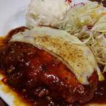 自家製デミソースとろけるモッツァレラチーズのハンバーグ(炭リッチ 浜松町店 )