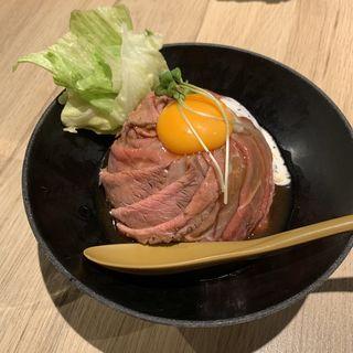 特製ローストビーフ丼 並(やながわ精肉店)