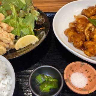 日替りランチ(酢豚)+唐揚げ