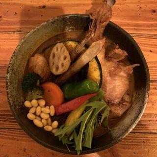 チキンと一日分の野菜20品目(Rojiura Curry SAMURAI. さくら店 (【旧店名】Soup Curry SAMURAI.))