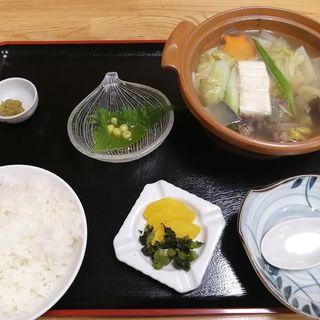 スポネ鍋定食
