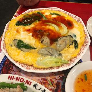 台湾風 牡蠣入りオムレツ(餃子屋 弐ノ弐 警固店)
