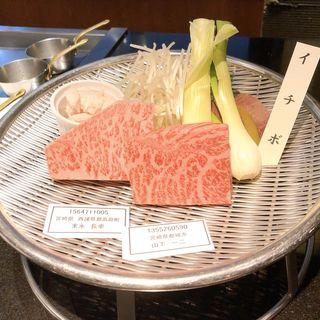 食べ比べコース(赤身&ロース)(博多みやちく )