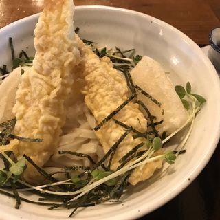 揚げ餅と海老のおろしぶっかけ(うどん大文字)