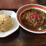 黒胡麻坦々麺半チャーハンセット