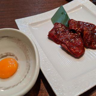 赤身肉の味噌玉