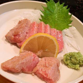 本マグロ炙り刺(寿司富)