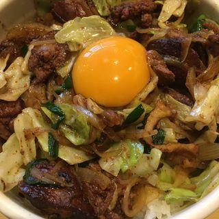 レバ野菜丼 卵黄のせ(新川大勝軒飯店 )