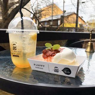ストロベリーパンケーキ(cafe rob 京都)