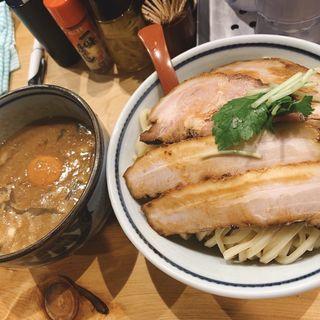 特製肉玉つけ麺大盛り(煮干麺 新橋 月と鼈)