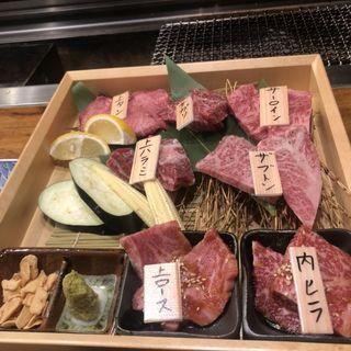 7種盛り(炭火焼肉のバクロ 西新店)