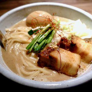 豚そば(ゆず)大+味玉(和醸良麺 すがり )