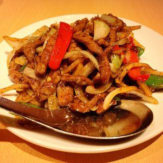 牛肉黒胡椒炒め(台湾料理 故宮 中目黒店)