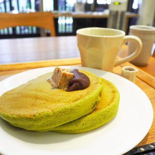 抹茶ホットケーキ(うめぞの カフェアンドギャラリー)
