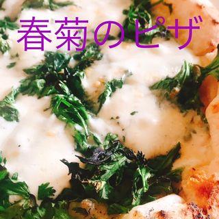 春菊のピザ