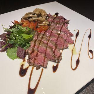 牛ランプ肉のグリル(トラットリア シゲタ)