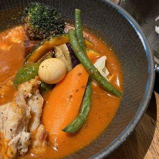 エゾシカと野菜のスープカレー(スープカレーlavi 新千歳空港店)