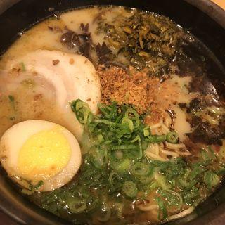 阿蘇高菜ラーメン(宮原サービスエリア上り線スナックコーナー )