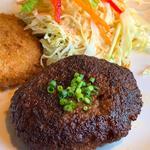 ハンバーグ+コロッケ定食