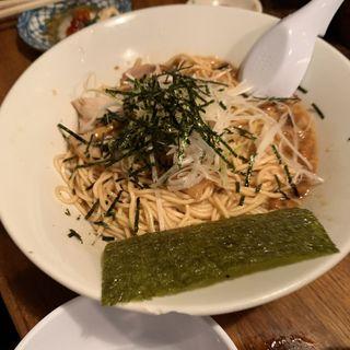 背脂ラーメン納豆(もちぶたラーメン 利田商店 )
