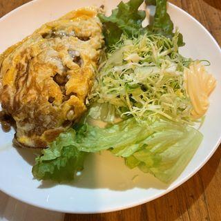 チーズ納豆オムレツ(美舟)