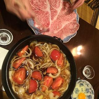トマトすき焼き(割烹武儀一 (むぎいち))