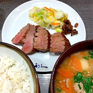 牛たん&芋煮定食 極