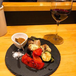 焼き野菜の盛り合わせハーフ(山バスク)