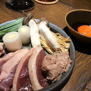 串焼と鴨すきコース(鴨とワイン Na Camo guro (カモトワインナカモグロ))