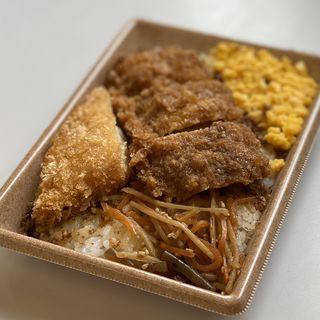 イカフライ&白身魚フライ御飯