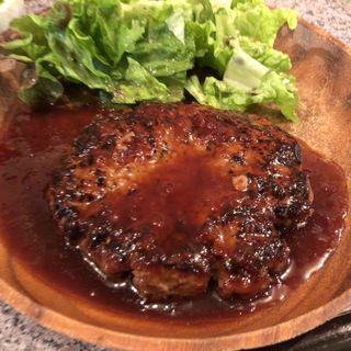 びっくりハンバーグ定食(柳小路)