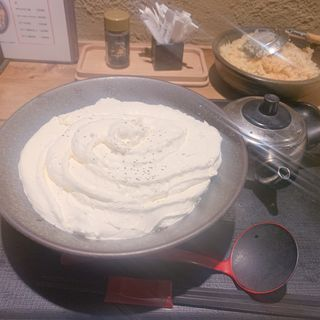 白い明太チーズクリームうどん