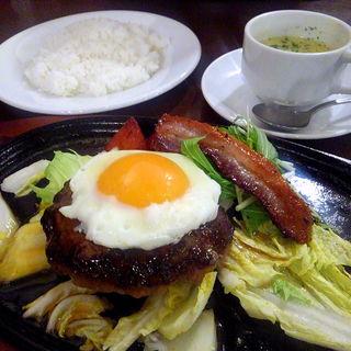 柚子コショウ風味のテリヤキハンバーグ
