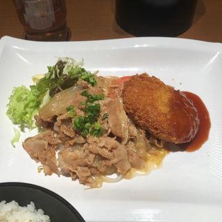 コロッケ牛肉定食(百代茶屋 (ひゃくだいちゃや))