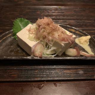 がんこ豆腐の冷奴(おはな房)