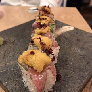 村上牛と雲丹の棒寿司(マルコ )