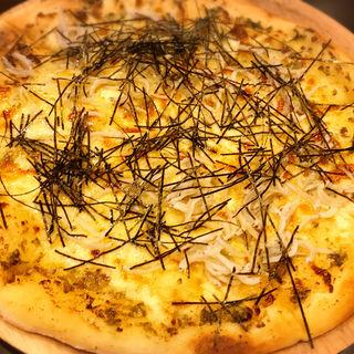 シラスと生海苔のピッツァ(BEADS DINER pancake & pasta 浅草橋店)
