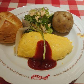 KUKU チキンライスのモッツァレラチーズ オムライス(ラケル 横浜ノースポートモール店)