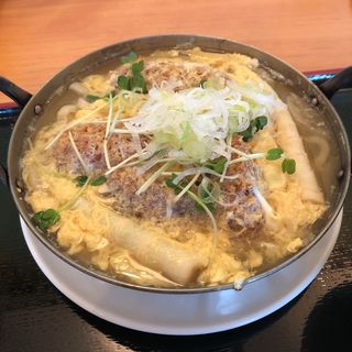 カキフライと卵とじうどん(ブルーコーナー )