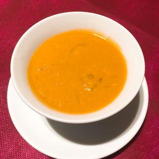 雲丹と鱶鰭のスープ(謝朋殿 粥餐庁 京王モール店  (シャホウデン カユサンチン))