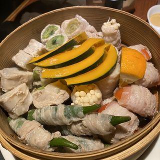 博多野菜巻き五種盛り(蒸屋じょうきげん)
