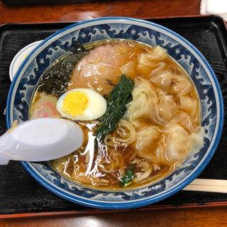 醤油 ワンタンメン(手打ちラーメン 英 (はなぶさ))