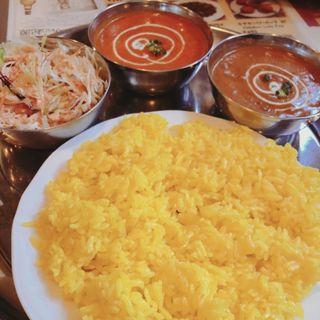 豆マトン、バターチキンCセット(ハニーナンハウス )