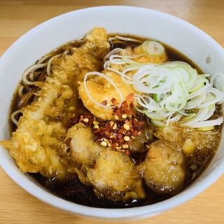 今日の天ぷら三点盛り(海鮮)(鶏だし そば うどん 三丁目 立)