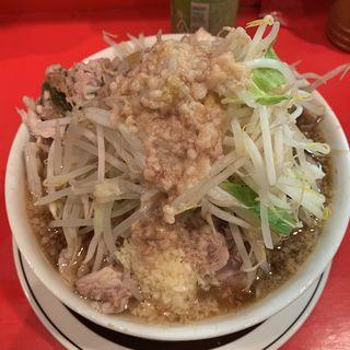 小豚ラーメン(ニンニク、アブラ)(ラーメン二郎 府中店 (らーめんじろう))