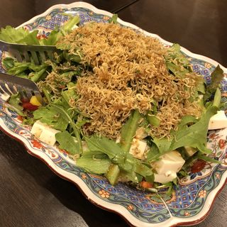 ジャコと豆腐のサラダ(吾妻)