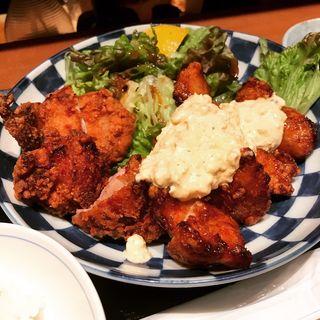 揚げ鶏定食(から揚げとチキン南蛮)(森川 (揚鶏と水炊き))