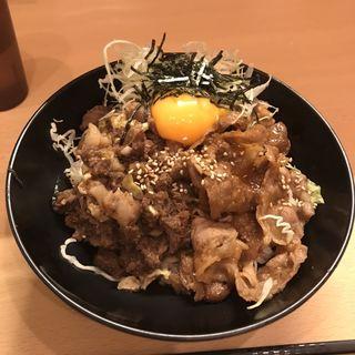 吉祥寺店限定まんぷく丼 牛カルビ+A5すじとランプ旨煮(the肉丼の店 吉祥寺店)